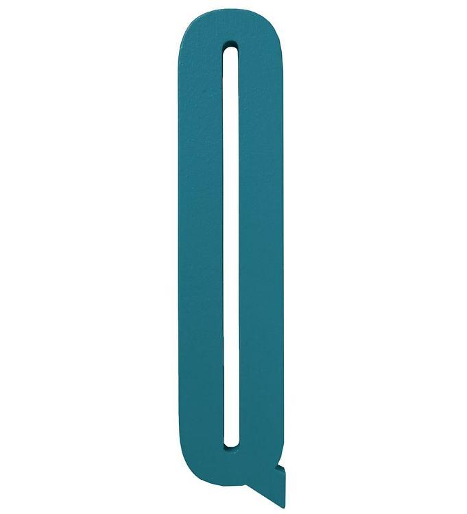 Image of Design Letters Træbogstaver - Q - Turkis (ØN770)