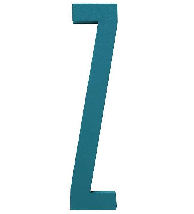 Image of Design Letters Træbogstaver - Z - Turkis (ØN779)