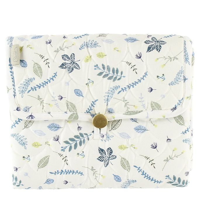 Cam Cam Pusleunderlag - Quilted - Pressed Leaves Blue