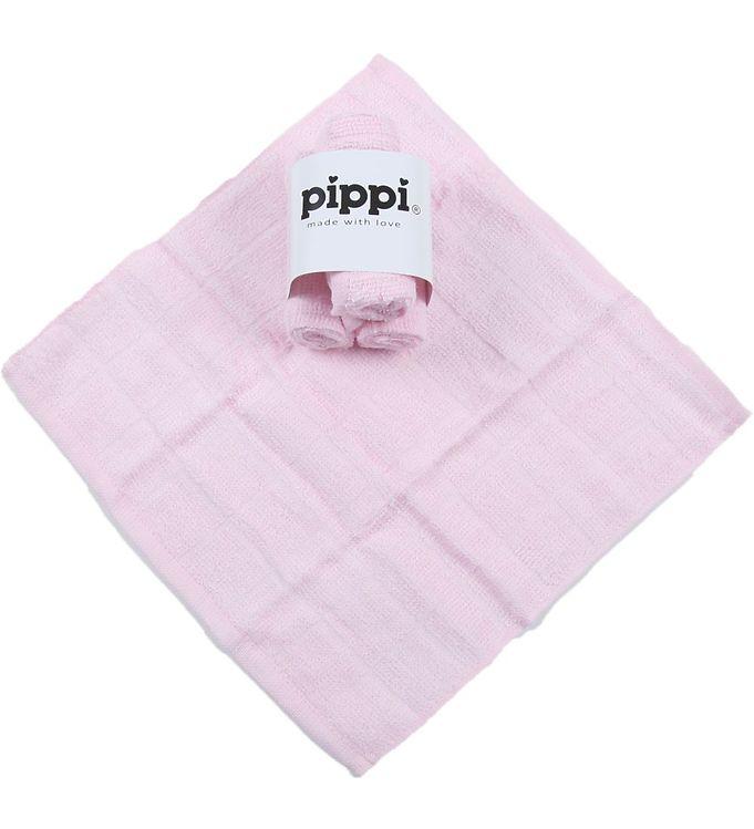 Pippi 4-Pak Vaskeklud - Lyserød