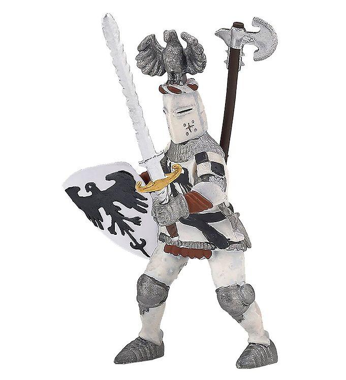 Papo Hvid Ridder - H: 10 cm
