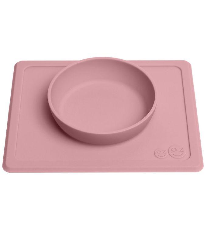 EzPz Happy Mini Bowl – Silikone – St?vet Rosa