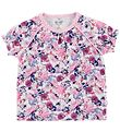 Me Too T-shirt - Rosa m. Blomster