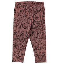 Soft Gallery Leggings - Paula - Burlwood m. Ugler