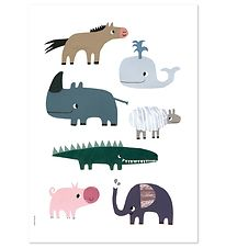 I Love My Type Plakat - A3 - Happy Animals - Smiling Friends
