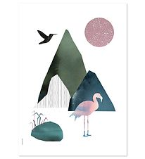 I Love My Type Plakat - A3 - Mountain Life - Flamingo