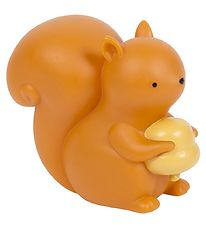 A Little Lovely Company Lampe - 12,5 cm - Squirrel - Lysebrun