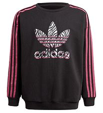 adidas Originals Sweatshirt - Sort/Wild Pink m. Logo