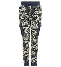 Minymo Sweatpants - Blue Nights Camouflage
