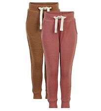 Minymo Sweatpants - 2-pak - Canyon Rose/Brun