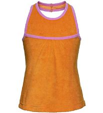Mala Frotte Top - Orange m. Lyserød