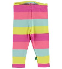 Freds World Leggings - Gul/Pink/Mintstribet
