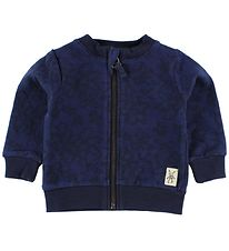 Small Rags Cardigan - Navy m. Blomster