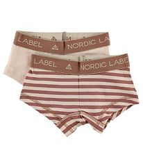 Nordic Label Hipsters - 2-pak - Lys Rosa/Rosastribet