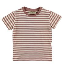 Nordic Label T-shirt - Offwhite/Rosa stribet