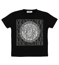 Young Versace T-shirt - Sort m. Logo