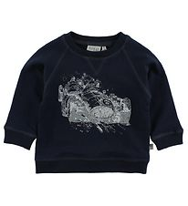 Wheat Sweatshirt - Navy m. Racerbil