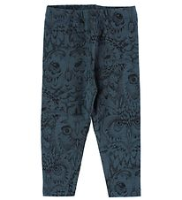 Soft Gallery Leggings - Paula - Petroleum m. Ugler