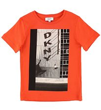 DKNY T-shirt - Orange m. Fotoprint