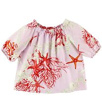 Young Versace Bluse - 3/4 - Rosa m. Print