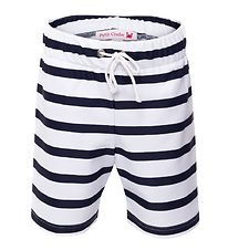 Petit Crabe Badeshorts - Alex - UV50 - Sort/Hvidstribet