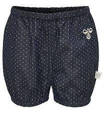 Hummel Shorts - Saga - Navy Denim m. Prikker