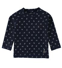 Wheat Badebluse - UV50+ - Dilan - Navy m. Anker