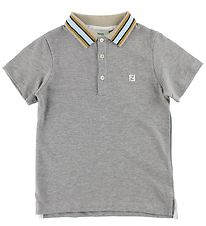 Fendi Kids Polo - Gråmeleret