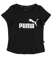 Puma T-shirt - Sort m. Logo