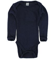 Smallstuff Body l/æ - Uld - Navy m. Elefanter