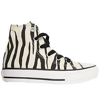 Converse All Star Hi - Creme m. Zebraprint