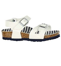 Birkenstock Sandaler - Rio - Nautical Stripes White