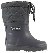 Aigle Termostøvler - Woody Warm - Charcoal
