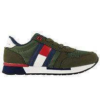 Tommy Hilfiger Sko - Low Cut Lace-Up - Armygrøn