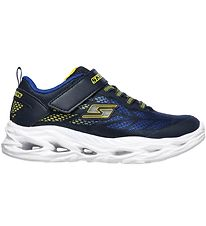 Skechers Sko m. Lys - Boys Vortex-Flash - Blå/Gul