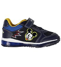 Geox Sko - Todo - Navy m. Mickey Mouse/Blink