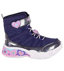 Skechers Støvler - Girls Sweetheart Lights - Navy Lavender m. Ly