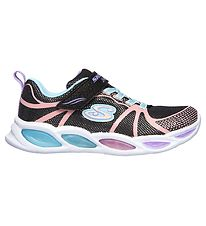 Skechers Sko m. Lys - Shimmer Beams - Sort Multi