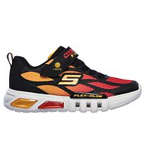 Skechers Sko m. Lys - Flex-Glow - Black Red