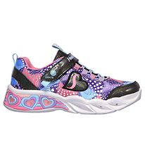 Skechers Sko m. Lys - Sweetheart Lights - Sort/Multi