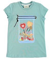 Fendi Kids T-shirt - Mint m. Slik