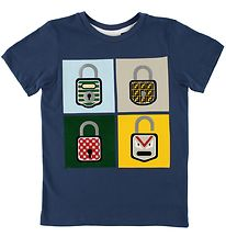 Fendi Kids T-shirt - Navy m. Hængelåse