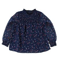 Creamie Bluse - Navy m. Blomster