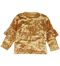 Small Rags Bluse - Velour - Guld