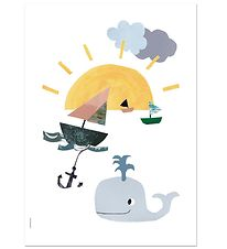 I Love My Type Plakat - A3 - Happy Animals - Sunny At Sea