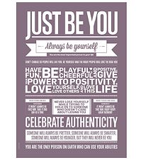 I Love My Type Plakat - 50x70 - Just Be You - Violet