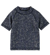 Wheat Bade T-shirt - Jackie - UV50+ - Navy m. Fjer