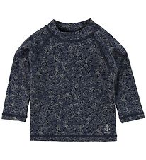 Wheat Badebluse - Dilan - UV50+ - Navy m. Fjer
