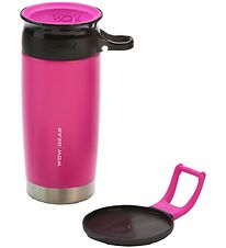 Wow Cup Termo - Stål - 400 ml - Pink/Sort
