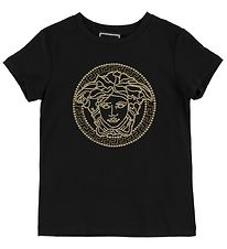 Young Versace T-shirt - Sort m. Medusa